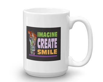 Imagine Create Smile Artist's Mug Made in the USA