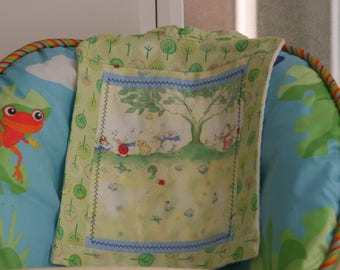 Baby Bib Bunnies and Bears in Lime trees