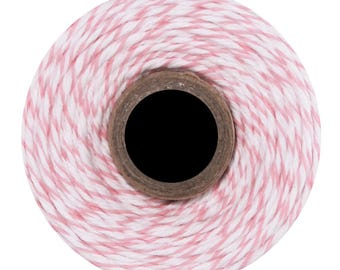 Cotton candy Divine Twine - 10 m - pink & white
