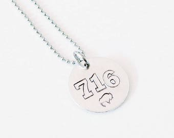 716 Necklace Hand Stamped Aluminum