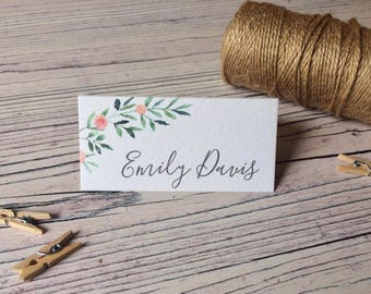 Botanical Floral Place Cards - Wedding Name Cards  - Reception Table Decor