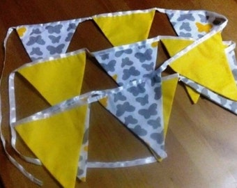 Mint bunting flags