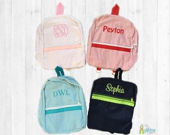 Monogrammed Backpack, Kids Backpack, Personalized Backpack, School Backpack, Book Tote, Book Bag, School Supplies, School Bag