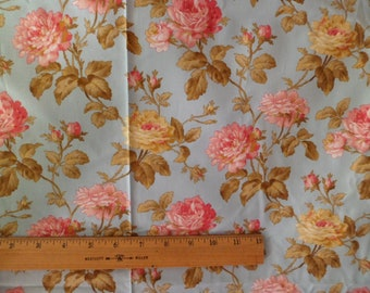 Holly Holderman Cotton Fabric Roses Floral 10 Yards Lakehouse Dry Goods