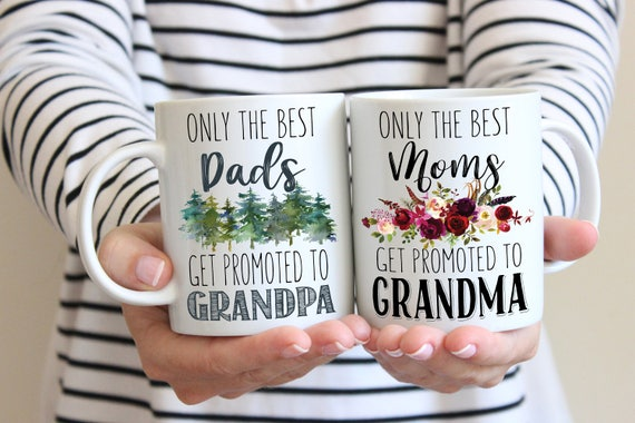 Only The Best Grandma and Grandpa Mug Set