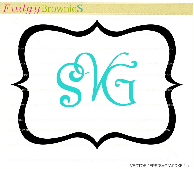 SALE svg Bracket square monogram frames,Wedding frame design clip ...