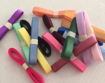 Mixed lot 17 satin ribbons
