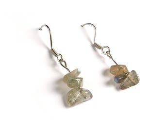 Labradorite jewelry, Labradorite earrings, Gemstone jewelry, Reiki earrings, New age jewelry Holistic jewelry Natural gemstone Healing Ahin