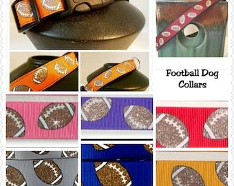 Sports Dog Collar, Football Dog Collar, Fall Sports Dog Collar, Dog Collars in your Football Team Colors, Dog Collar, Pet Gift