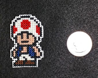 Toad Cross Stitched Refrigerator Magnet
