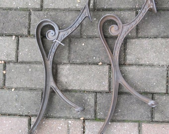 Vintage Cast Iron Park Bench Arms.