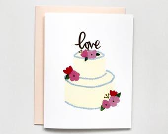 Wedding Cake - Wedding Card