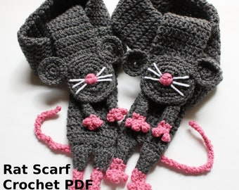 Instant download RAT Scarf PDF Pattern