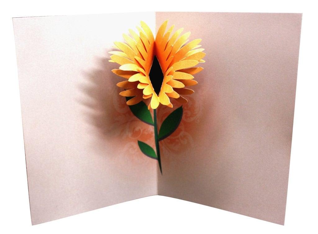 Flower Birthday Pop Up Card Template Printable DIY