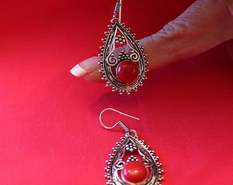 Red Coral Earrings!
