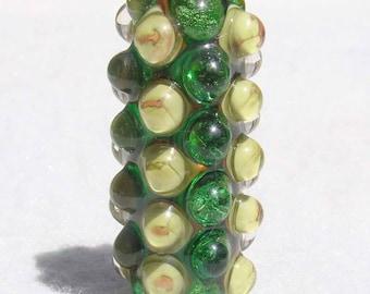 PICKLE JUICE Handmade Lampwork Art Glass Focal Bead - Flaming Fools Lampwork Art Glass  sra