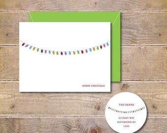 Christmas Cards, Holiday Cards, Christmas Lights, Christmas Card Sets, Holiday Card Set, Handmade, Christmas, Cards, Christmas Lights Cards