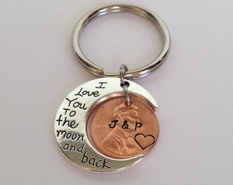 Penny Keychain, Anniversary Gift for Boyfriend, Gifts for Husband, Gift for Wife, Anniversary Gifts for Men, Boyfriend Gift, Husband Gift