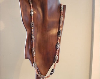 Ancient Granite in a Necklace with Copper Hishi