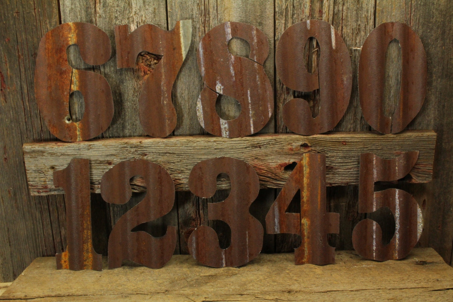 Rustic Tin Letters Rusty Tin Numbers Free Shipping Large Rustic Number Giant