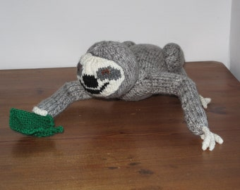 Knitted Sloth Toy