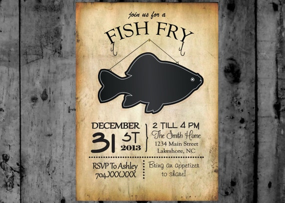fish fry invitation printable party invitation. Black Bedroom Furniture Sets. Home Design Ideas