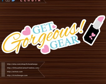 Get Gorgeous Gear - SVG, PNG, DXF Print and Cut Files