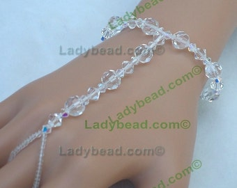 HJ2001 Hand Jewelry Swarovski Ladybead Crystal Bling for the Beach Bride On Sale!