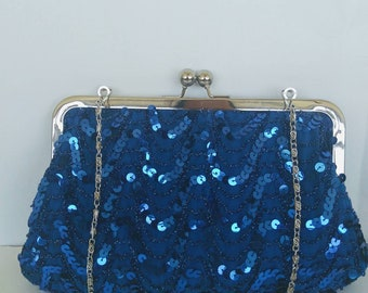 many colors ! blue silver gold sequin clutch wedding bridesmaids eveing holiday prom  BBsCustomClutches