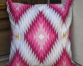 Southwestern Pillow Cover 16 x 16 to 24 x 24. Sturdy cotton fabric.