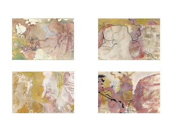 multi-part paintings, original on cardboard
