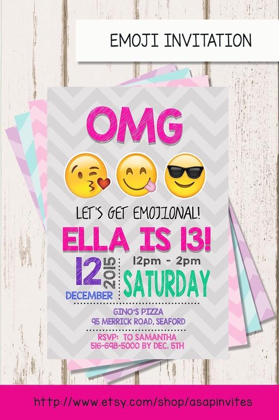 EMOJI BIRTHDAY INVITATION Emojis Emoji Invite Collectibles