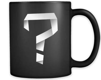 Silly Mugs - Question Mark Ceramic 11 oz Black mug