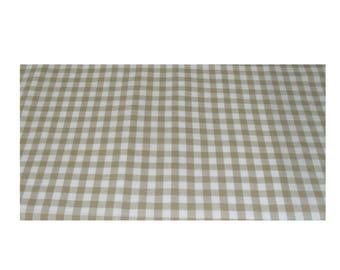 Table Runner Checkered beige-white Vichy Diamonds