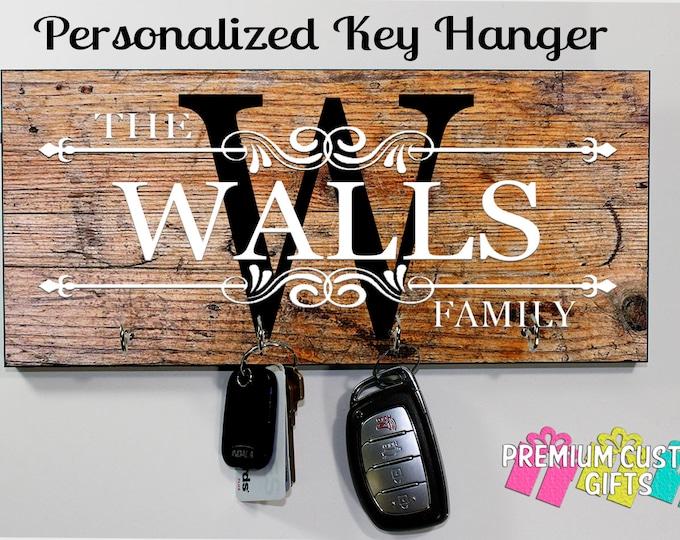 Personalized Key Hanger, Wall Key Rack, Anniversary Gift, Housewarming Gift, Wedding Gift, Key Holders, Personalized Gift, Key Hanger