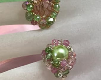 Beaded Cluster Rings (Gold Wire, Size 7 3/4 and Silver Wire, Size 7 1/4)