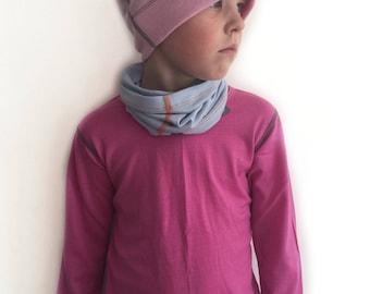 Bright Pink Long Sleeved Top | Merino Wool Top | Girl's Top | Singlet | Undergarment | Kids Base Layer | Girls Thermal Base Layer