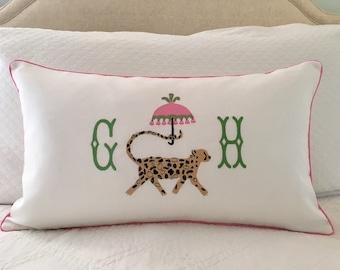 Chinoiserie Cheetah Pillow Cover