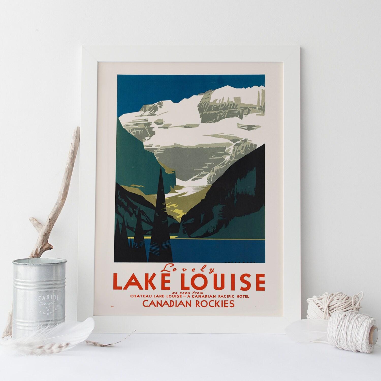 Art Deco Poster Art Deco Print LAKE LOUISE Kanada Banff Reisen
