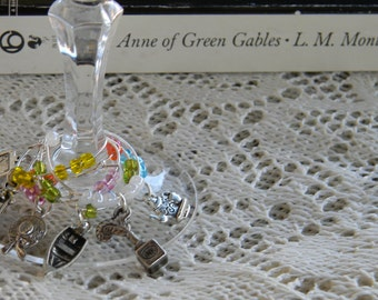 Anne of Green Gables Inspired Wine Glass Charms, Set of 6