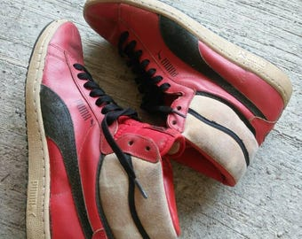 RARE Vintage 80's Leather Puma Ralph Sampson Sneakers Shoes Size 7US
