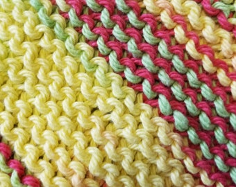 Handmade Knitted Dishcloth - Peace