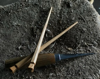 "7"" cherry chopsticks, hand carved"