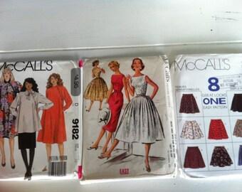 Vintage McCall's Patterns - 3 womens vintage patterns 9182, 3652, 7841