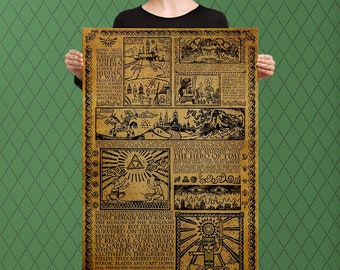 Legend of Zelda Inspired, Story of a Hero, Link Rises, Custom Raised Canvas Art Piece
