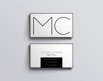 Elegant business card template business card designcustom minimal business cardblack and white custom business cardbusiness card design flashek Choice Image
