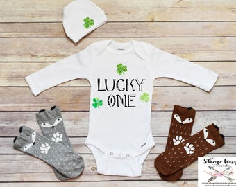 Boy Clothes, Baby Boy Onesies®, St Patricks Day Onesie®, First St Patricks Day Outfit, Baby Onesie®, Baby Boy St Patricks Day, Shamrock