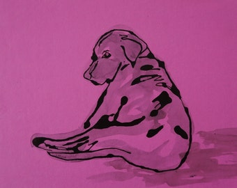 Labrador painting, Labrador watercolor, Labrador art, Labrador dog art, Labrador illustration, Labrador decor, black Labrador art