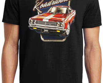 PubliciTeeZ Big and Tall King Size Licensed Liquid Blue 1969 Roadrunner T-Shirt