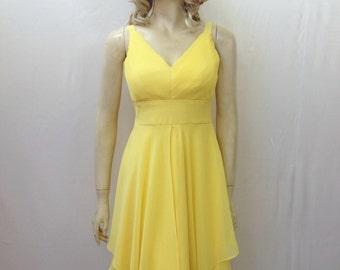 Yellow Bridesmaid Dress. Yellow Evening Dress